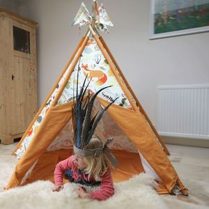 Woodland Animal Wigwam With Flags - what's new
