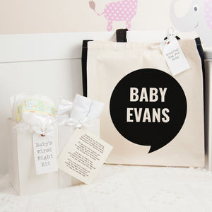 Personalised Quest Hospital Bag And First Night Kit