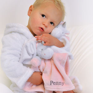 Personalised Pink Unicorn Baby Comforter