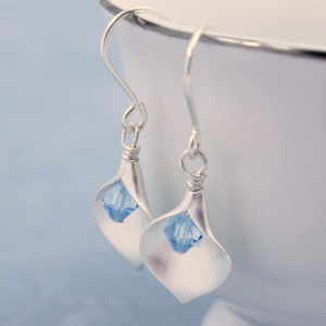 Calla Lily Birthstone Earrings - earrings