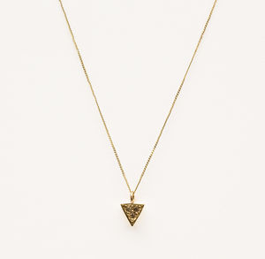 Tribar Diamond Pendant Necklace