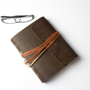 Soft Leather Journal With Treeless Pages