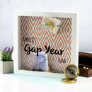 Personalised Gap Year Fund Money Box Frame