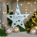 Personalised Wooden Star Name Baubles