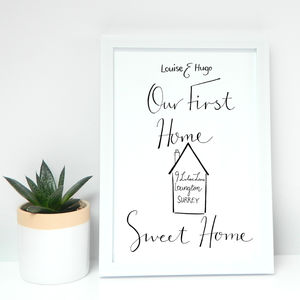 Personalised 'Our First Home' Print