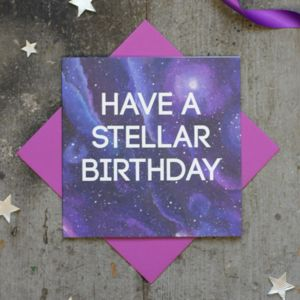 Have A Stellar Birthday Card - pantone colour of the year: ultra violet