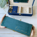 Personalised Jewellery Box In Velvet And Gold