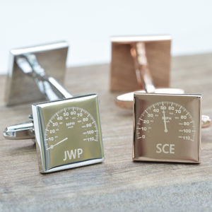 Personalised Car Dial Cufflinks - gifts for fathers