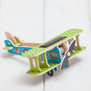 Build Your Own 3D Solar Powered Toy Aeroplane Craft Kit - stocking fillers