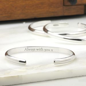 Men's Open Silver Bracelet - men's jewellery