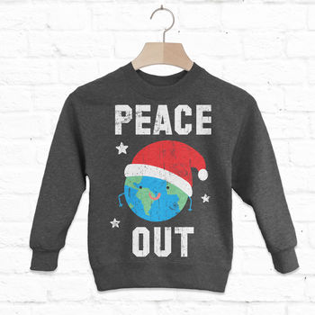 Peace Out Children's Christmas Sweatshirt