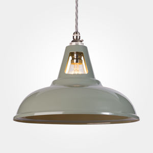 Olive Grey Coolicon Vintage Industrial Pedant Lamp - pendant lights