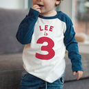 Personalised Name And Milestone Birthday Age Kids Top
