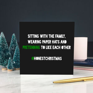 Honest Christmas 'Paper Hats' Card