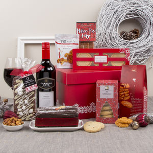 Christmas Treats Festive Gift Box Hamper - wines, beers & spirits