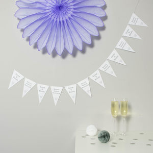 Diamond Wedding Anniversary Bunting