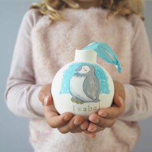 Baby's First Christmas Bauble Decoration Penguin