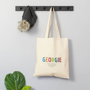 Personalised #Hashtag Tote Bag - baby & child