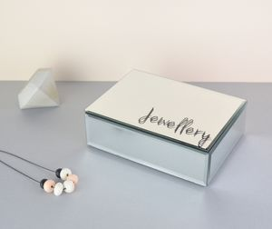 Large Personalised Mirror Jewellery Box