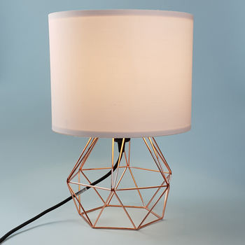 copper cage lamp
