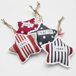 Personalised Padded Star Decoration - decorative accessories