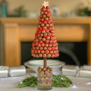 Edible Christmas Malteser Tree With Red Drizzle