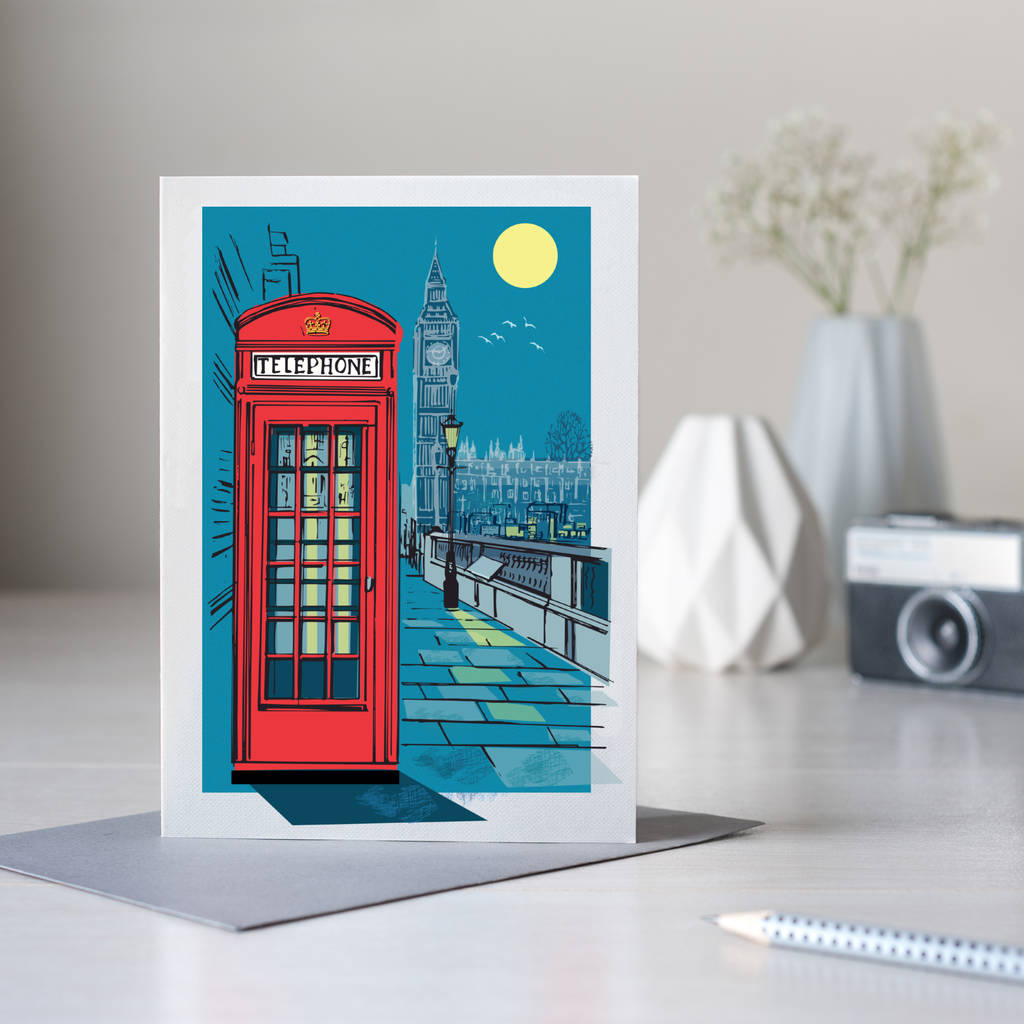 Telephone Box Card