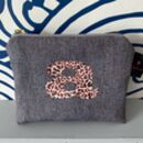 Sustainable Personalised Leopard Print Coin Purse
