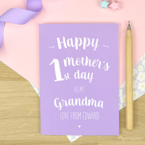 Bespoke Listing First Mother's Day Card For Granny