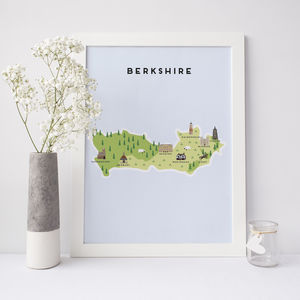 Map Of Berkshire - what's new