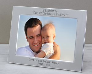 1st Christmas Frame For Daddy - home accessories