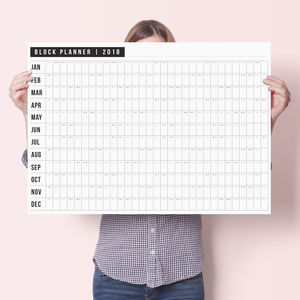 Sale Price 2018 Block Wall Planner