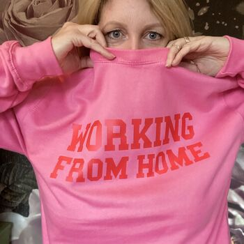 Pink Working From Home Sweatshirt