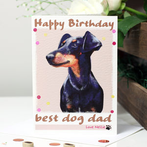 Personalised 'Nellie' Dog Birthday Card
