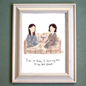 Personalised Mother And Daughter Portrait - paintings