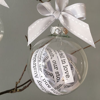 Message In A Bauble Christmas Decoration