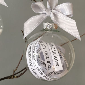 Message In A Bauble Christmas Decoration - christmas decorations