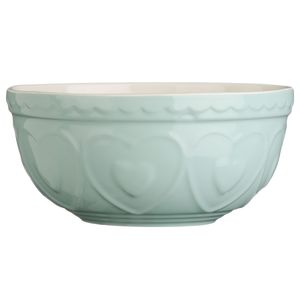 Traditional Stoneware Heart Ceramic Mixing Bowl - summer sale