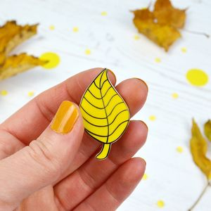 Falling Leaf Pin - pins & brooches