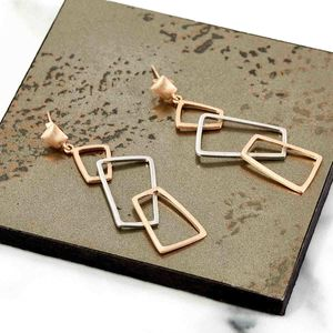 Gold And Silver Earrings With Geometric Elements Geo - earrings