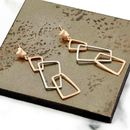 Gold And Silver Earrings With Geometric Elements Geo