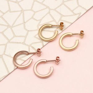 Gold Huggie Mini Hoop Earrings