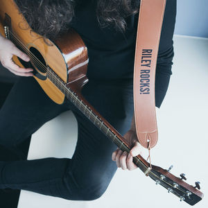 Personalised Leather Guitar Strap - 18th birthday gifts