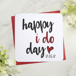 Personalised Happy I Do Day Wedding Day Card - wedding cards