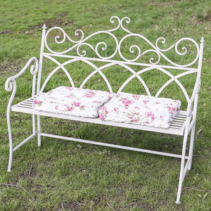 Luxury Edwardian White Folding Garden Bench