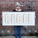 Bespoke Large Wooden Word Sign