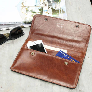 Italian Leather Travel Wallet. ' The Torrino' - passport & travel card holders