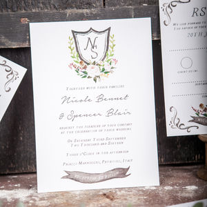 Romance And Roses Wedding Stationery - invitations