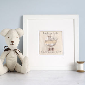 Personalised Picture For Twins - children's pictures & paintings