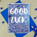Good Luck Message Card